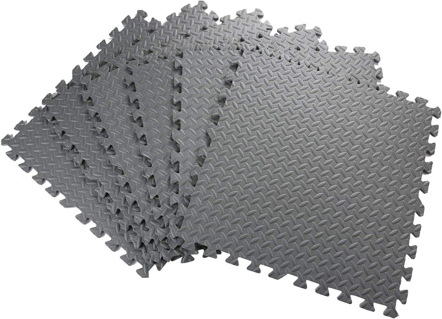 Ginnastica Hol8Iarose Tappetini da Fitness a Puzzle Tappetini a Puzzle per Pavimento Superficie di Protezione per Pavimenti Workout Garage materassino per Palestra 60cm x 60 x 1cm