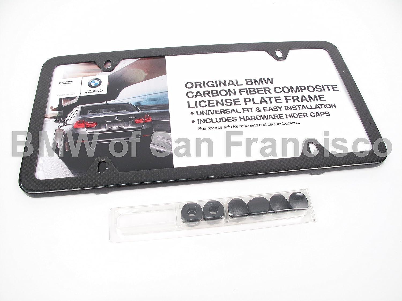 Amazon.com: BMW 82 11 2 210 415 Carbon Fiber Slim Line License Plate ...