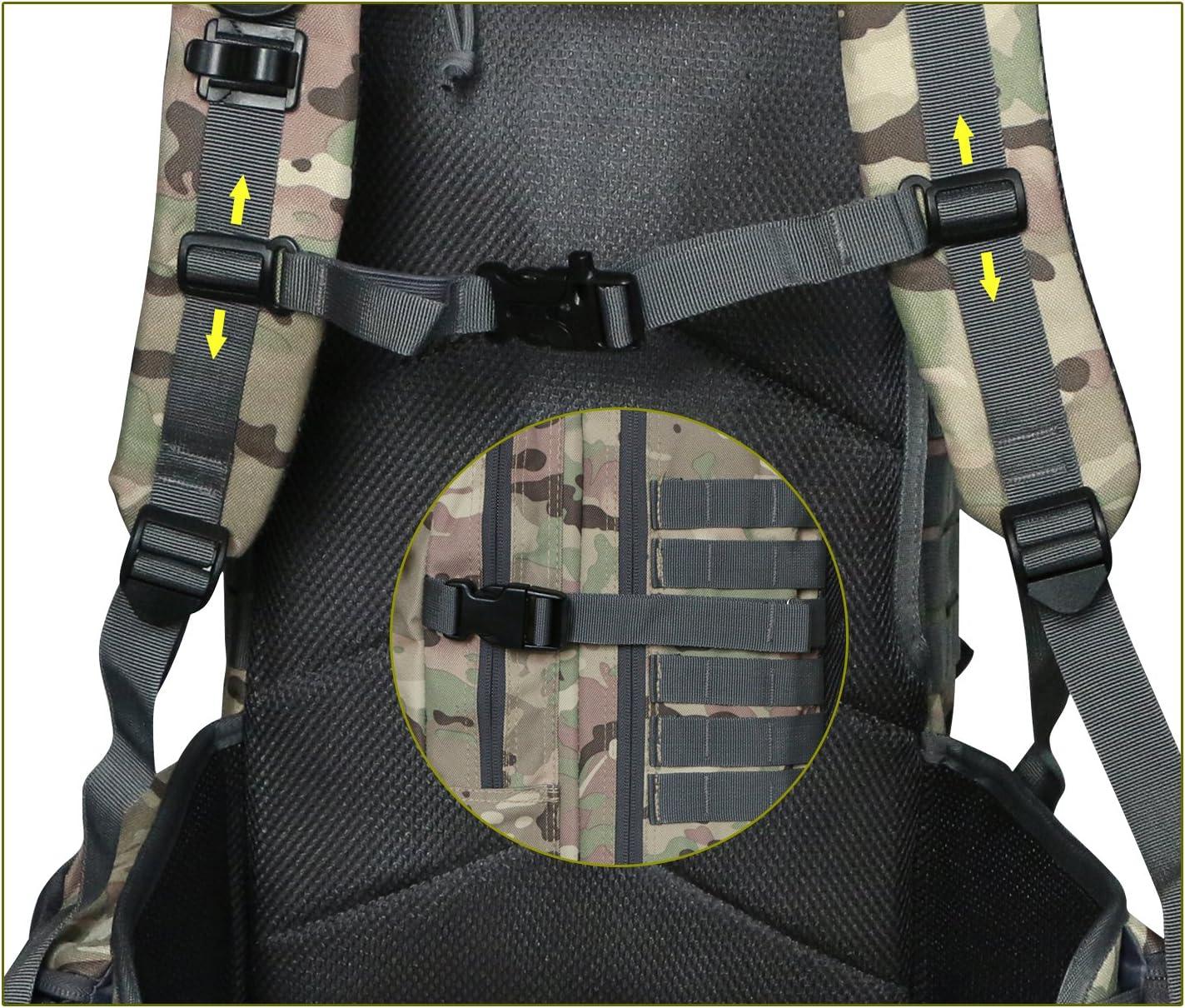V/élo Sac /à Dos de lAlpinisme,Ecursion et Camping Randonn/ée Militaire Sac /à Dos Imperm/éable pour Voyage