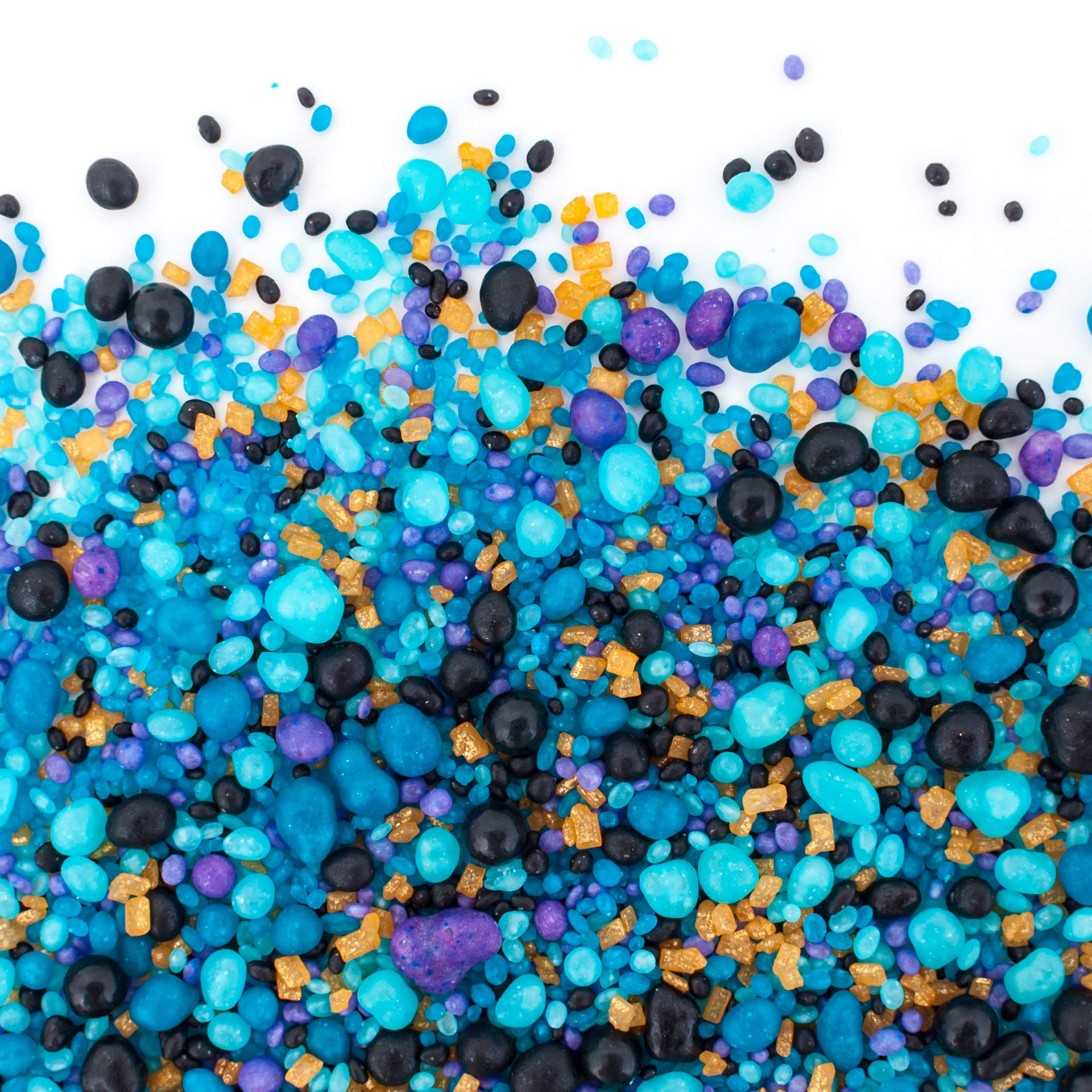 Flavored Candy Sprinkles | STEAMPUNK 8oz | Made From Candy! | Gluten Free. Nut Free. Dairy Free. | Black Cherry. Fruit Punch. Wild Berry. Blue Raspberry.