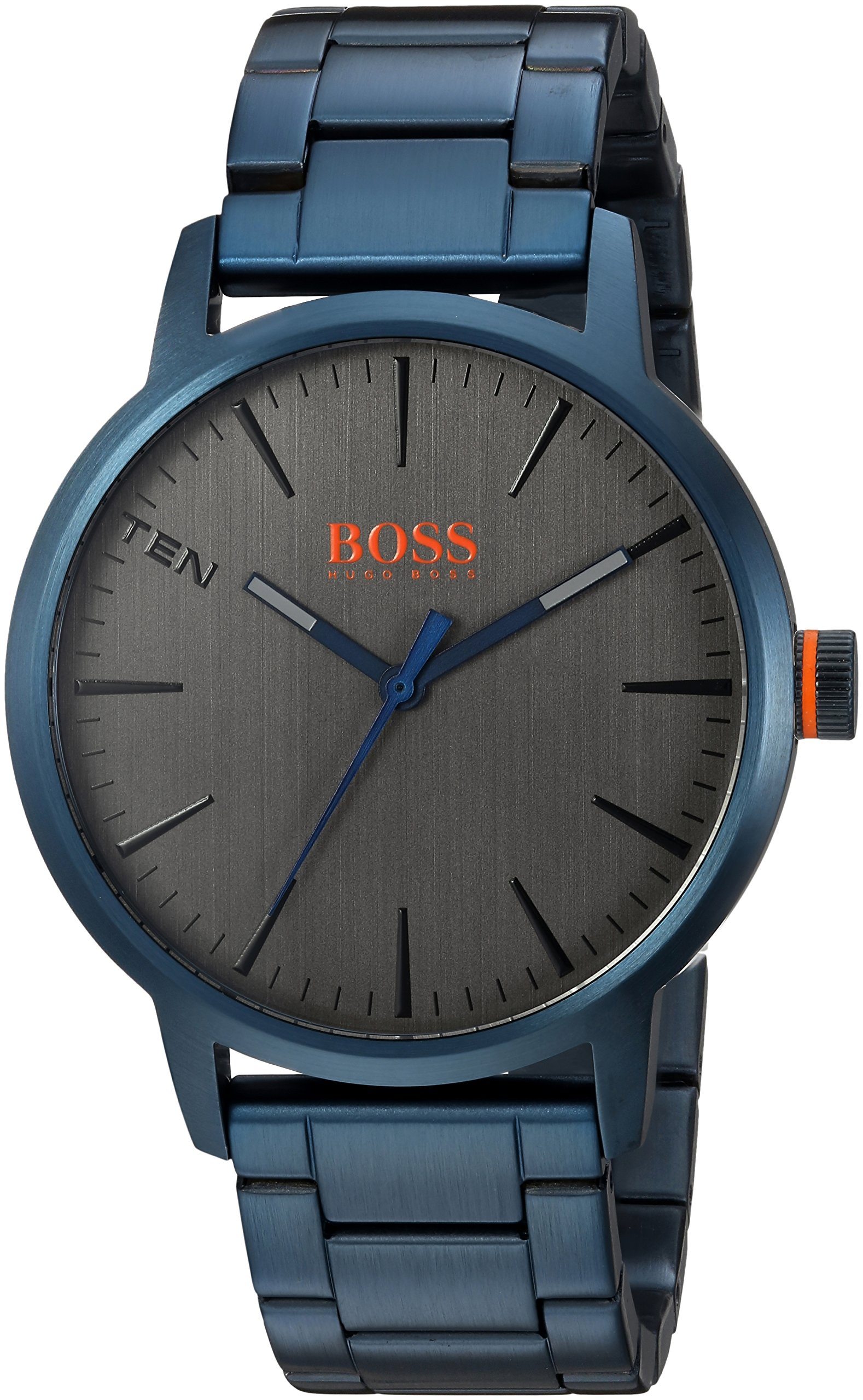 HUGO BOSS Men's 'Copenhagen' Quartz and Stainless-Steel-Plated Casual Watch, Color:Blue (Model: 1550059)