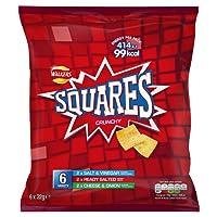 Walkers Squares Variety Snacks, 22 g, Pack of 6