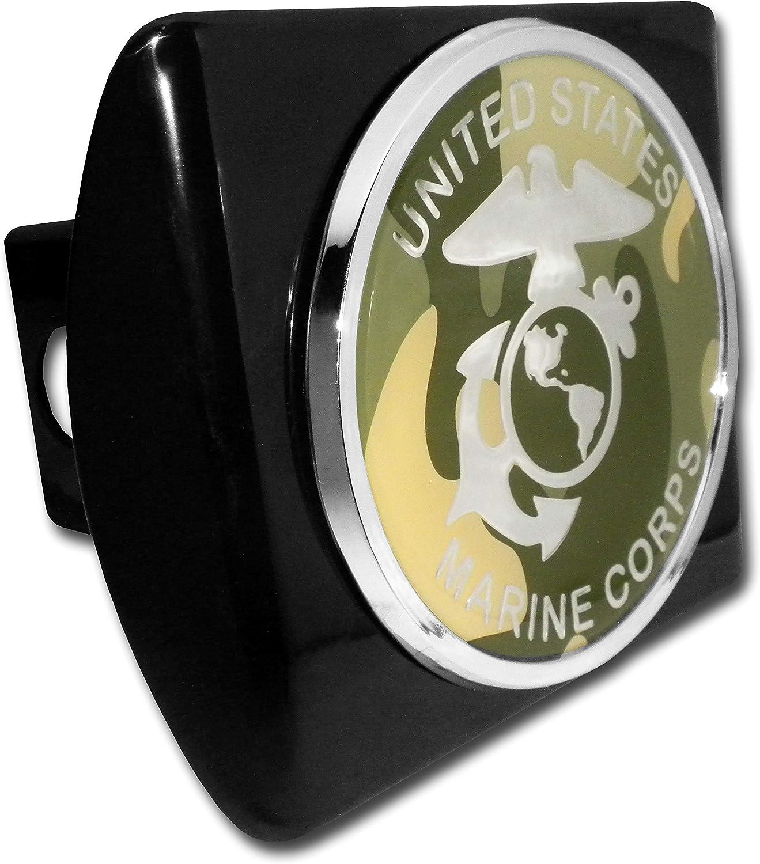 Elektroplate Marines Premium Silver Anchor Black Metal Hitch Cover