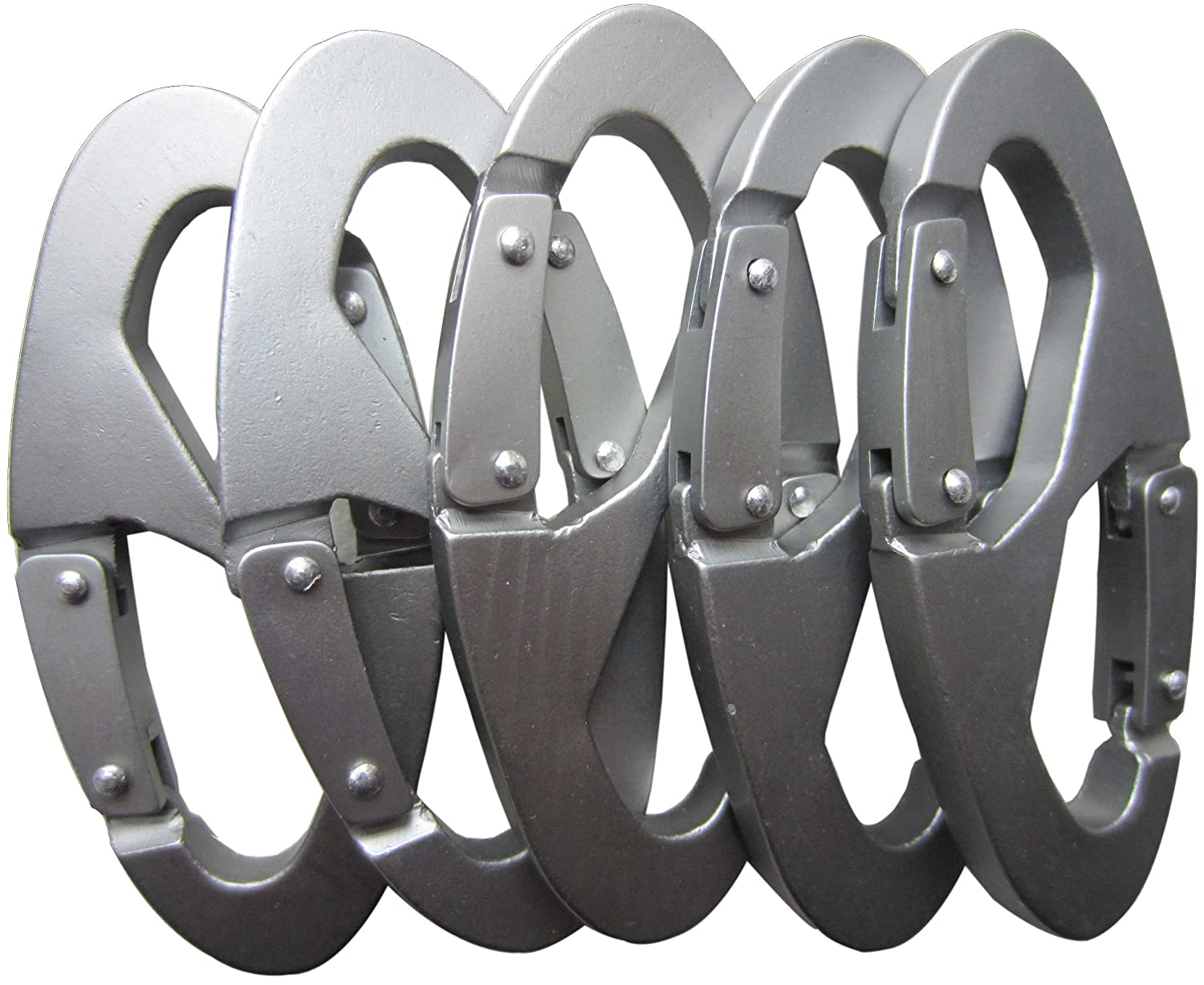 LeBeila 8 Shape Carabiner Aluminum Alloy Rope Buckle S Style Snap Clip Hook Keychain for Climbing, Hiking, Camping and Outdoor Livings (5 PCS) LBL-B7WG2-3561