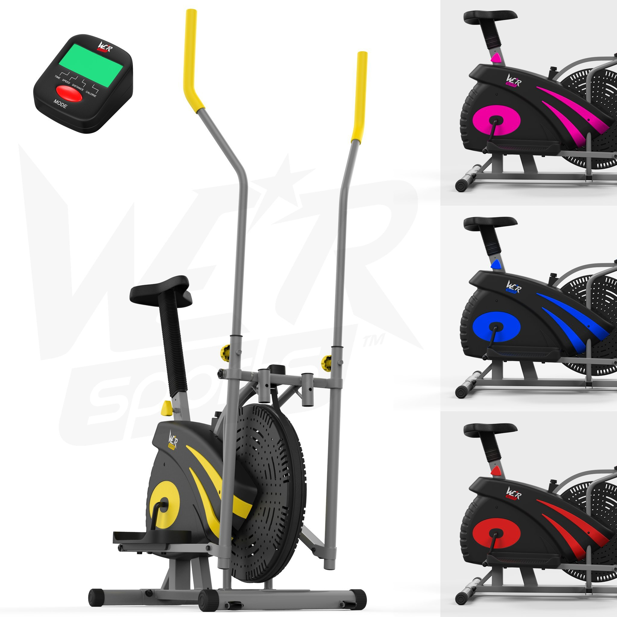 We R Sports 2-en-1 Elliptique Traverser Entraîneur & Exercice Vélo Intérieur Maison Aptitude Cardio Faire Du Sport Machine product image