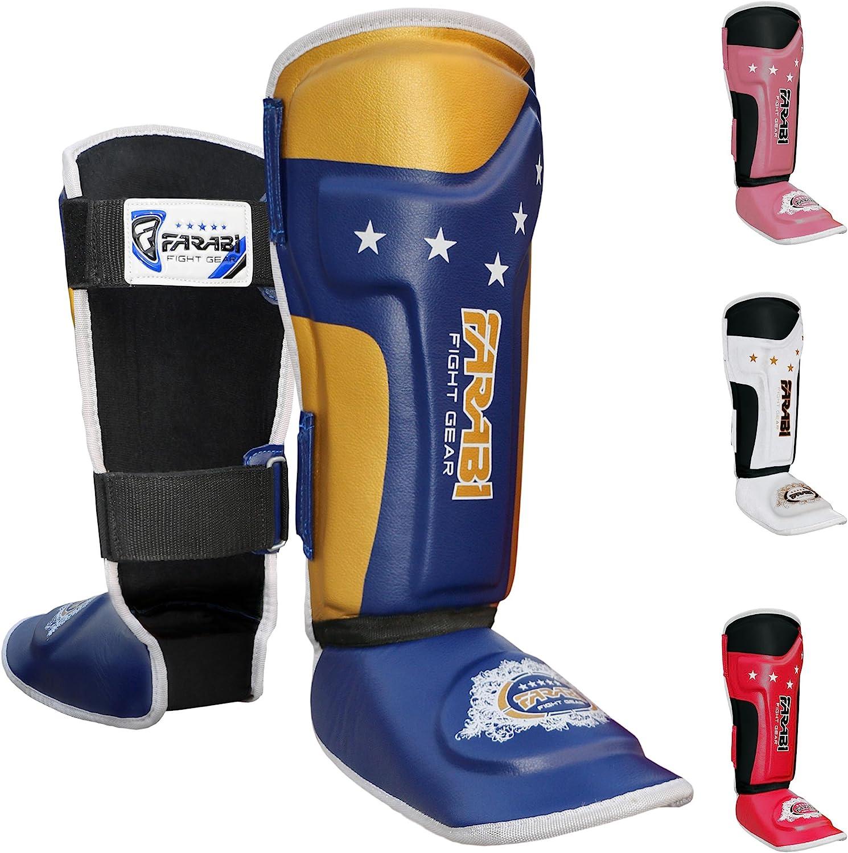 Farabi T-Tech Kids Boxing Shin Guard Junior Shin Pad Shin Pad MMA Shin Pad Shin Protector Shin Guard with Strap