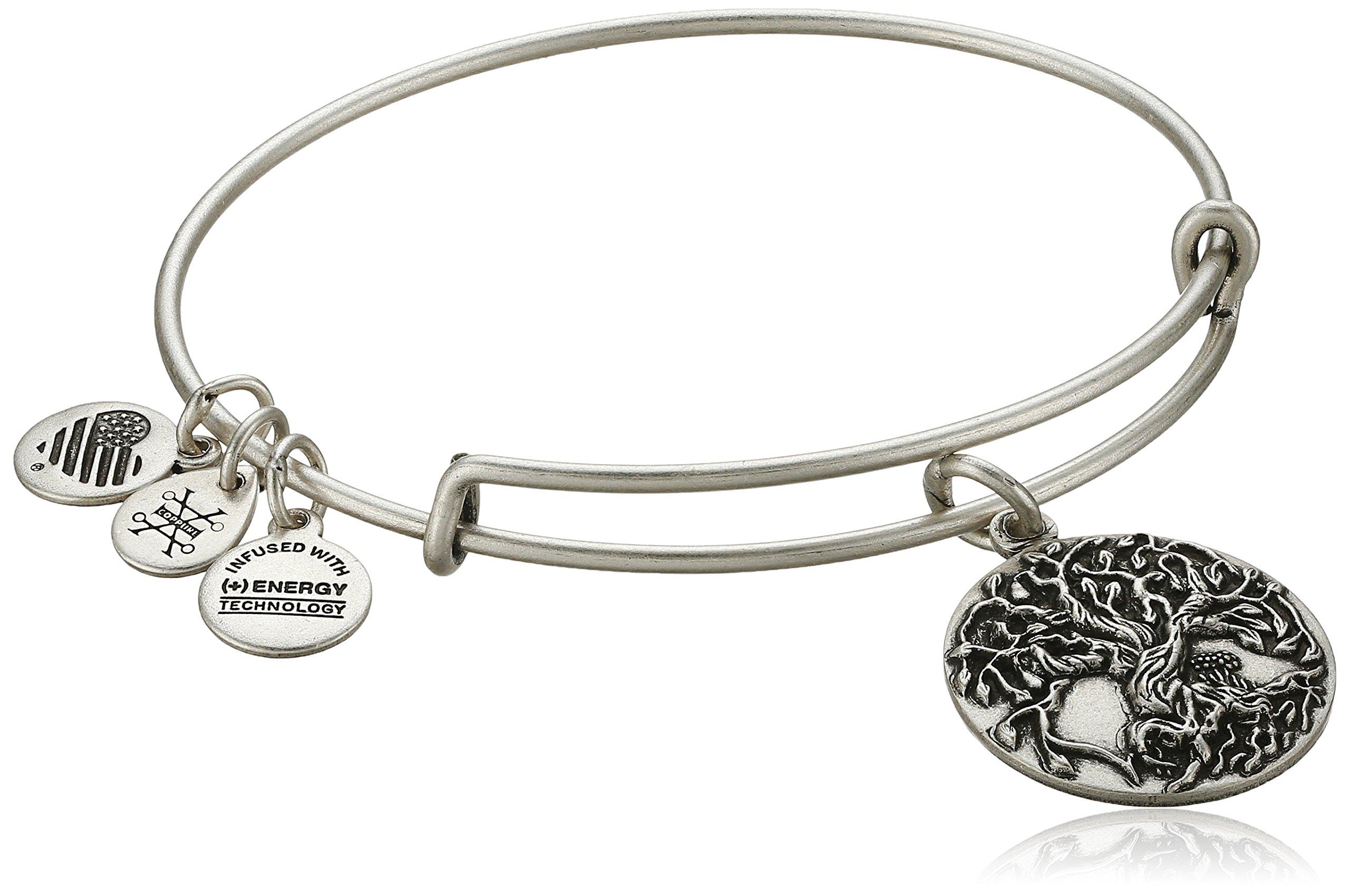 Alex and Ani Tree of Life III Expandable Rafaelian Silver Bangle Bracelet