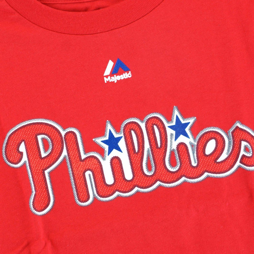 Majestic Chase Utley Philadelphia Phillies MLB Red Player Name /& Number Jersey T-Shirt for Boys