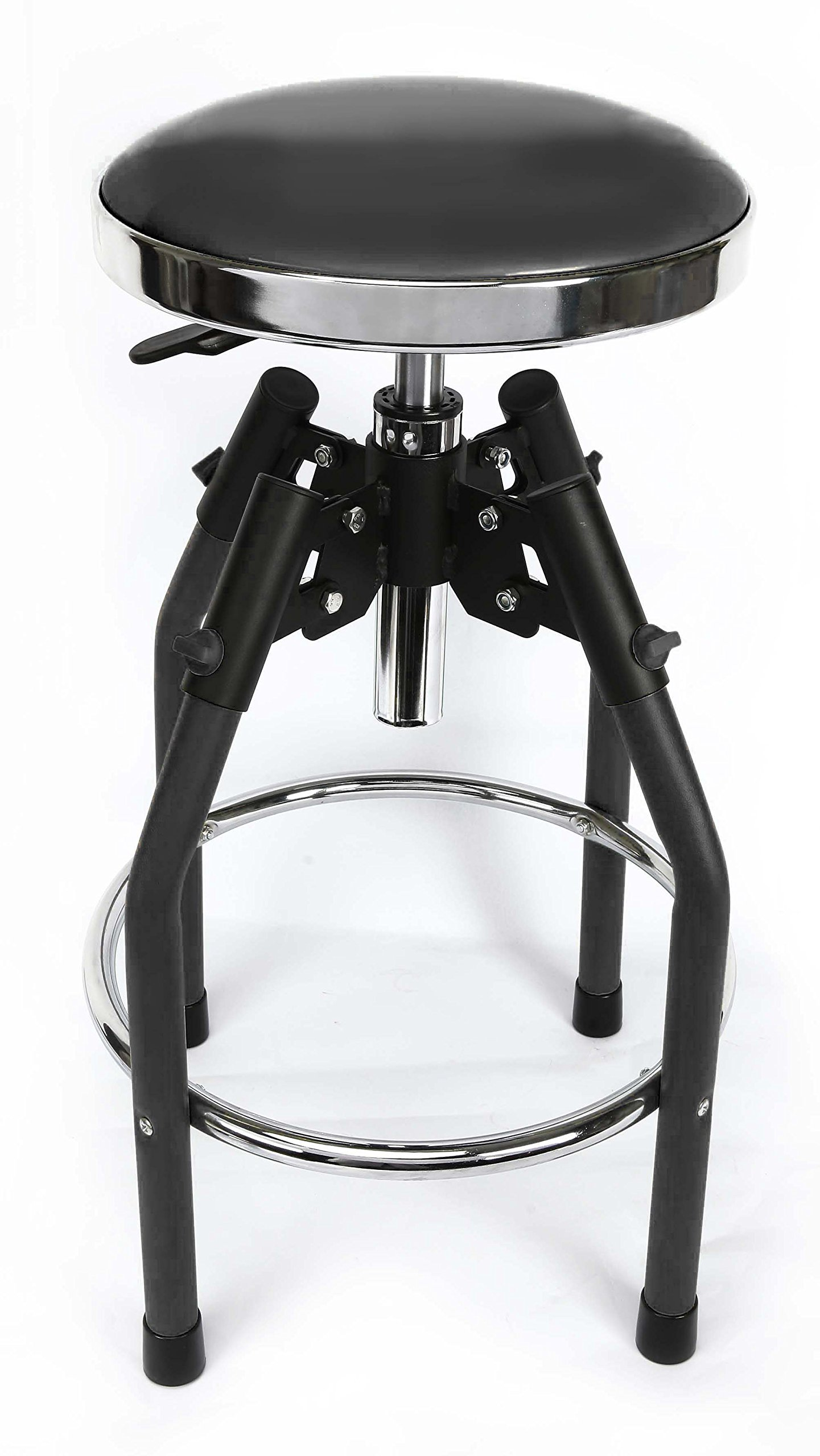 WORKPRO W112010A Heavy duty Adjustable Hydraulic Shop Stool, Black