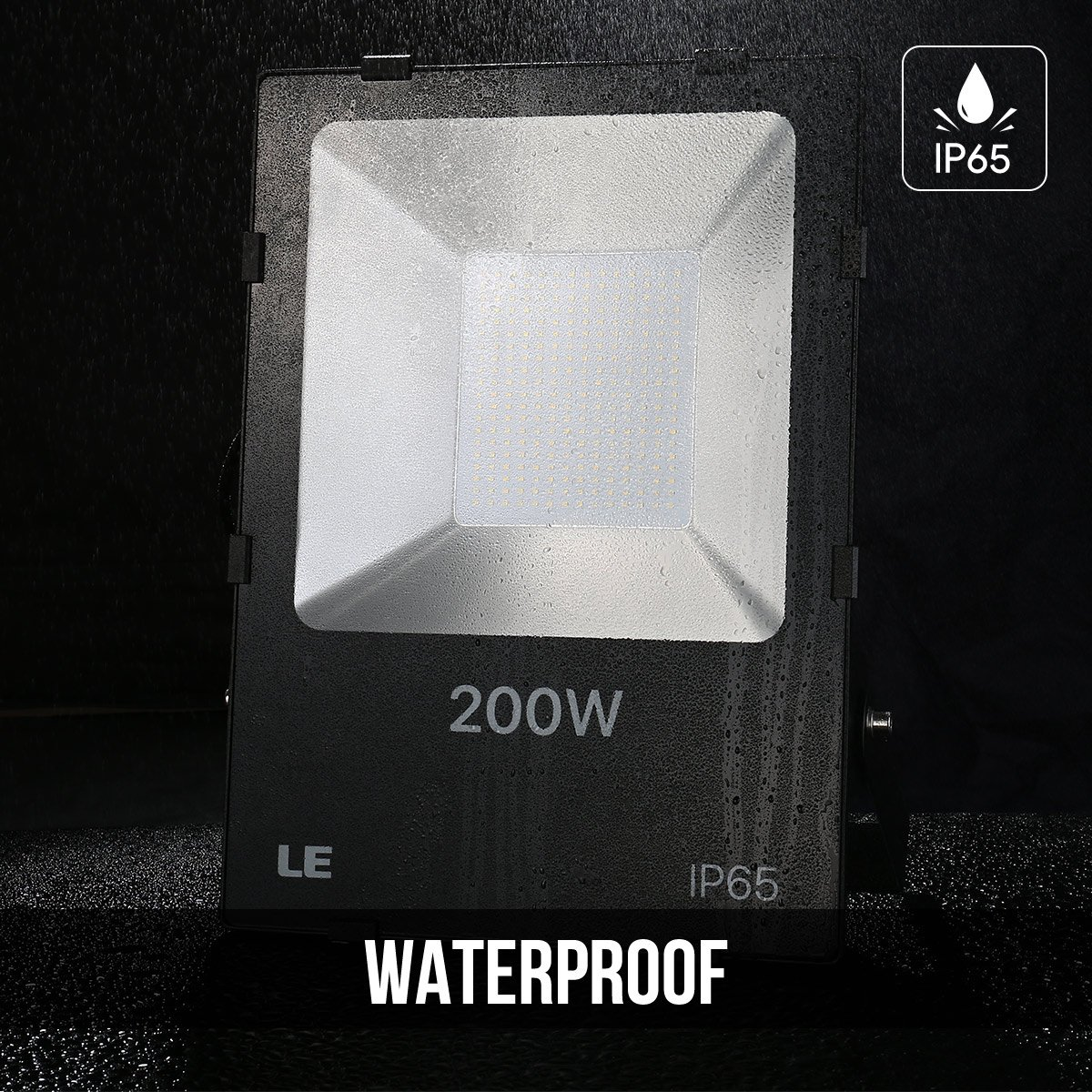 LE 200W Super Bright Outdoor LED Flood Lights, Daylight White, 5000K, 600W HPSL Equivalent Security Lights, Floodlight (ETL Listed) by Lighting EVER (Image #4)