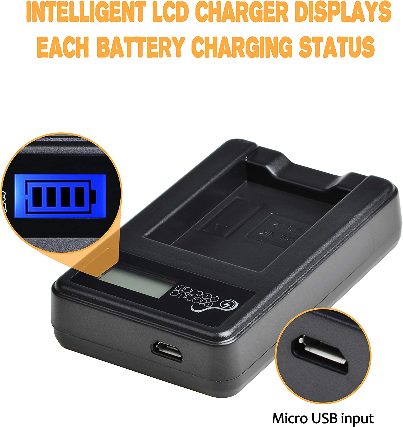 S9500 x2 1400mAh, 3.7V S6100 Camera EN-EL12 Pickle Power S8200 S6200 S9400 AW100 S9700 S8200 S6300 ENEL12 Batteries and Slim LCD USB Charger Compatible with Nikon Coolpix AW110