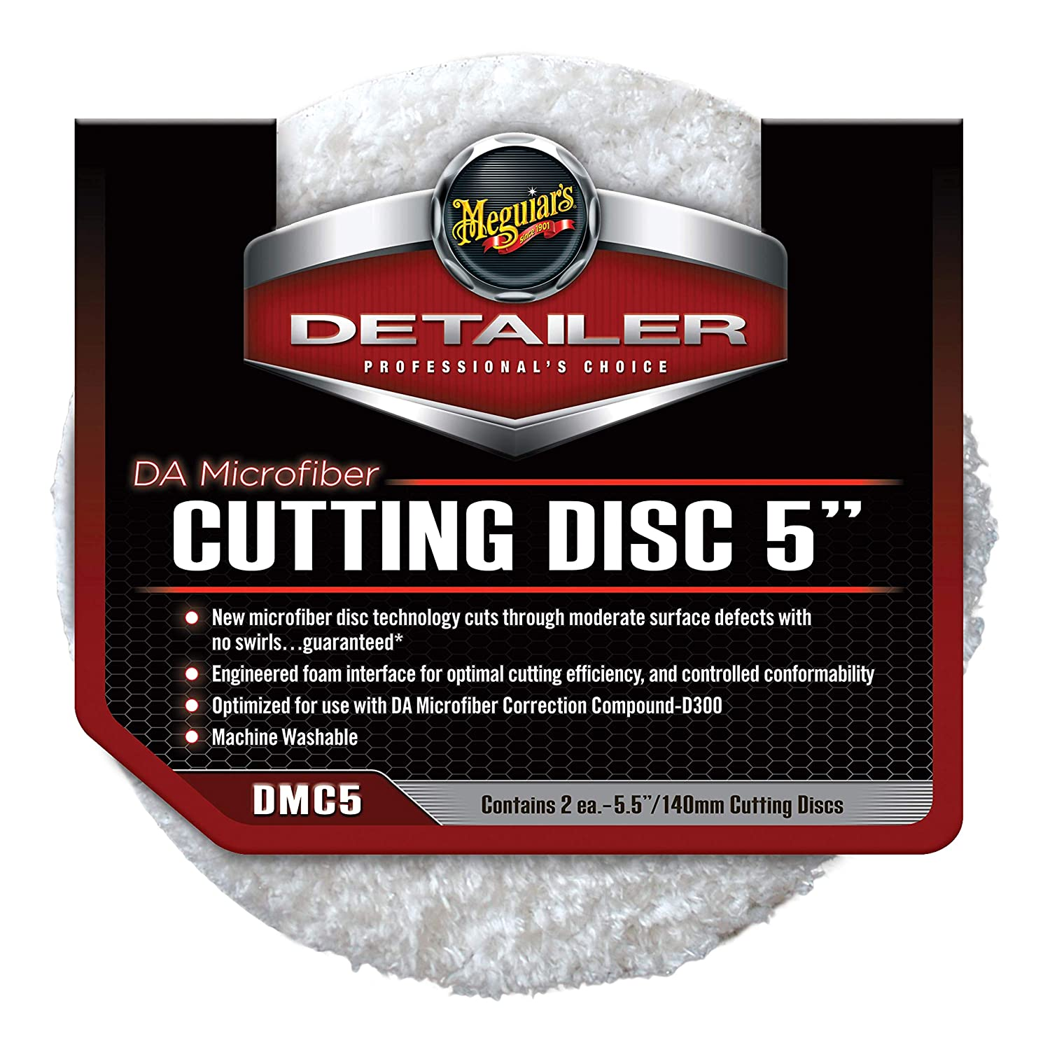 Meguiars 5' DA Microfibre Finishing Pads for use with G220 & Das 6 Dual Action Polisher