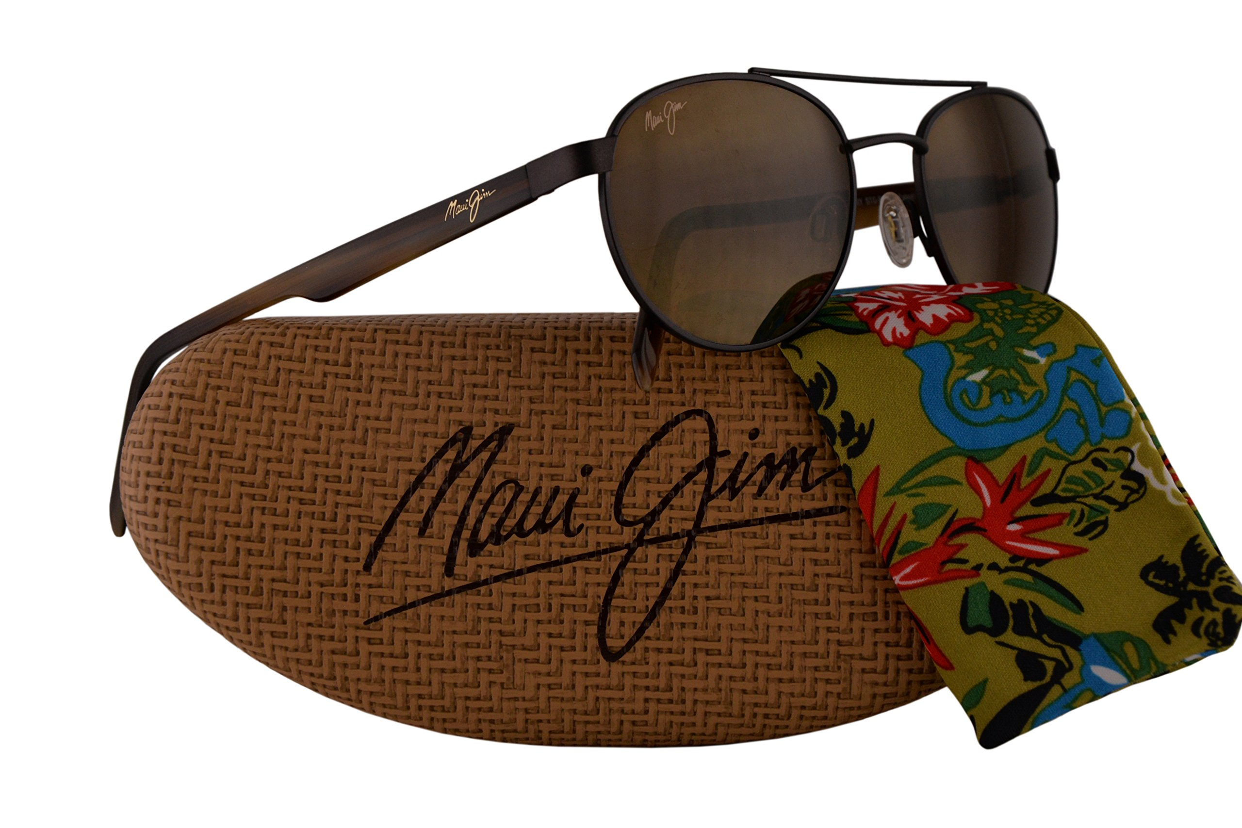 Maui Jim Upcountry Sunglasses Matte Chocolate w/Polarized Bronze Lens MJ727-01M