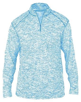 648032c27a8 Badger Men s Sports Double-Needle Blend 1 4 Zip Jacket at Amazon ...