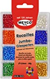 Rocailles-Sortiment 4 mm Silbereinzug matt
