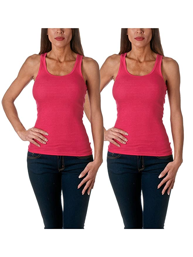 3068f82b3d076 Sofra Women s Tank Top Cotton Ribbed at Amazon Women s Clothing store