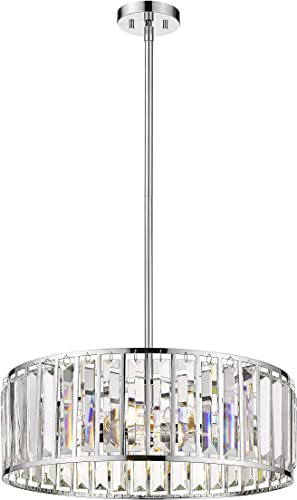 22″ Drum Chandelier Modern Ceiling Light Fixture