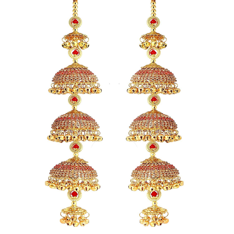 Punjabi Copper Red Golden kalere (12 Inch Long 2.2 Inch Wide)