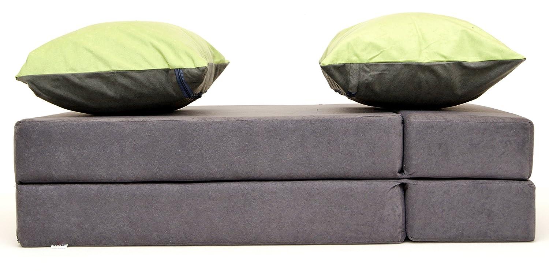 Welox sp.zoo Sofá Multifuncional 3 en 1 para niños y un colchón, Hecho de Espuma, Ideal para Fiestas de Pijama. 200 x 80 cm