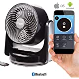 "Ozeri Brezza III Dual Oscillating 10"" High Velocity Desk Fan with Bluetooth Technology"