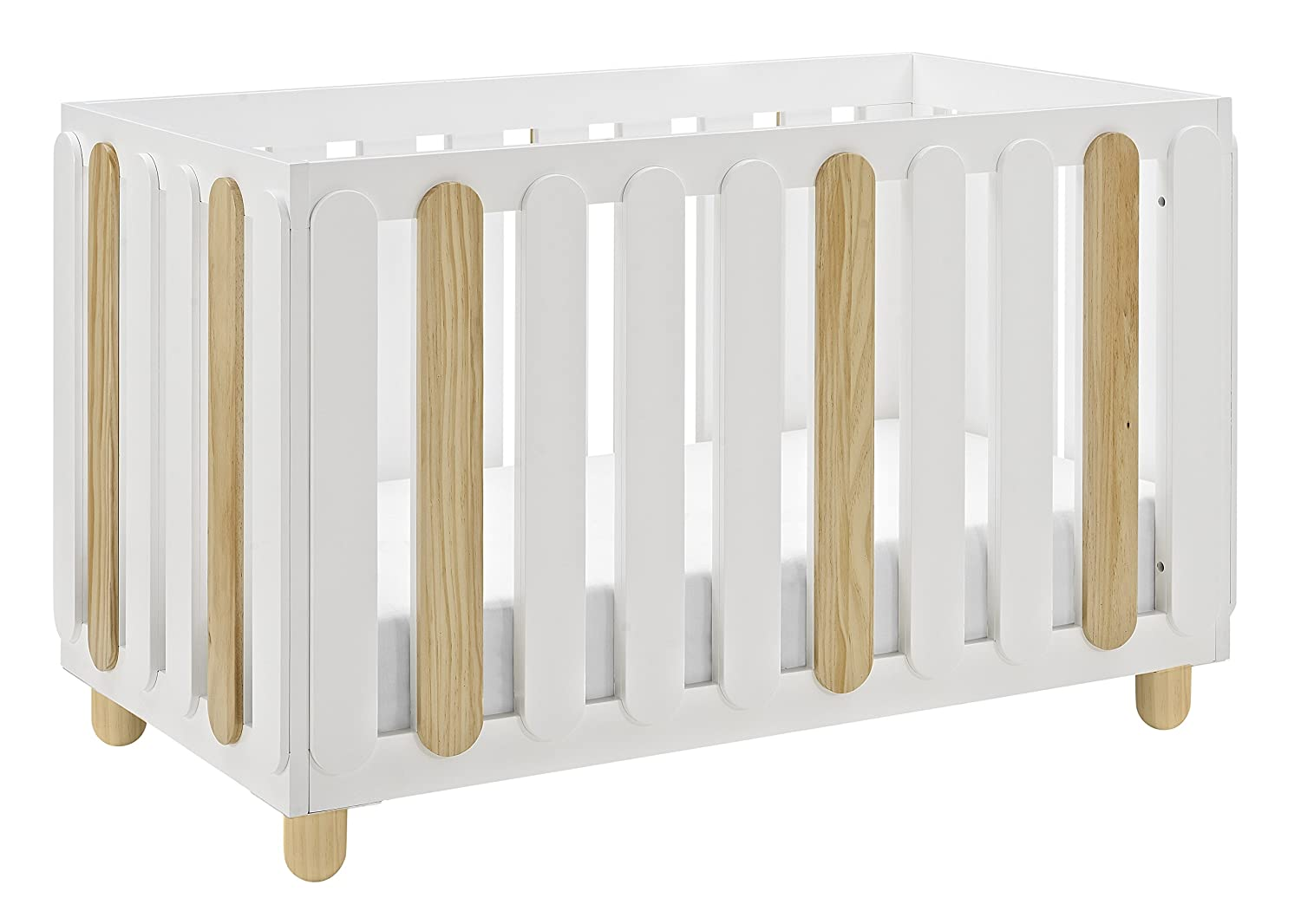 Some Assembly Required Three Position Adjustable Height Mattress Easily Converts to Toddler Bed Day Bed or Full Bed Storkcraft Sienna 3-in-1 Convertible Crib White//Natural