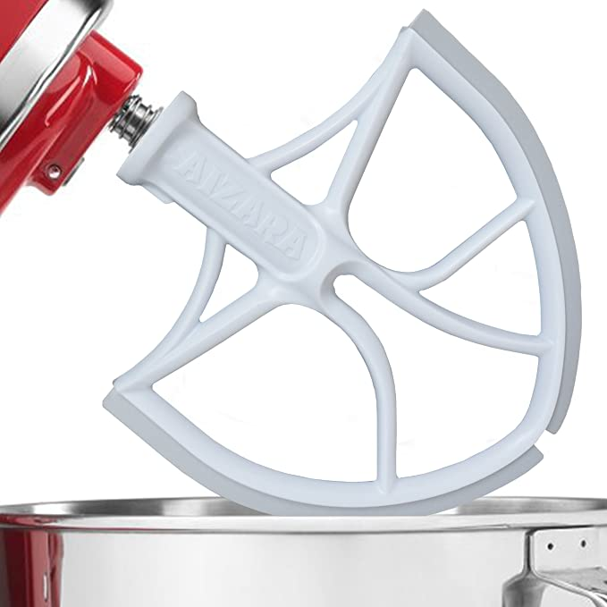 Batidor plano con lámina rascadora flexible para robots de cocina KitchenAid con recipientes de 5,68 L: Amazon.es: Hogar