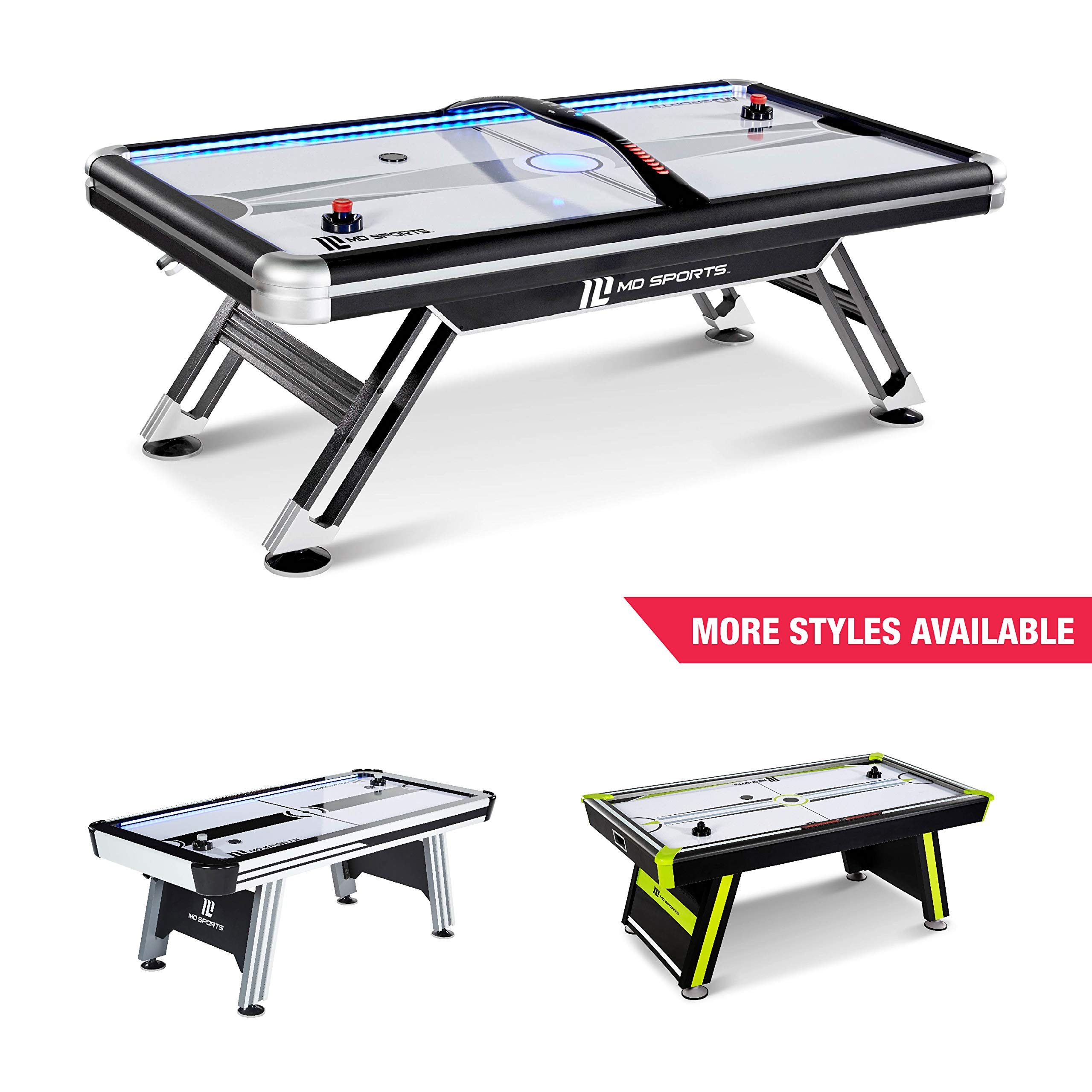 MD SPORTS Titan 7.5 ft. Air Powered Hockey Table with Overhead Scorer by MD Sports