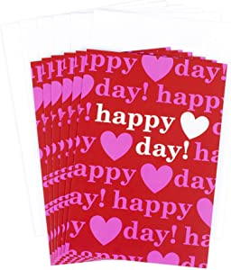 Hallmark Valentines Day Cards Pack, Happy Heart Day (6 Valentine Cards with Envelopes)