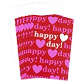 Hallmark Valentine's Day Greeting Cards Assortment (6 Cards and 6 Envelopes, Happy Day Hearts Pink and Red)