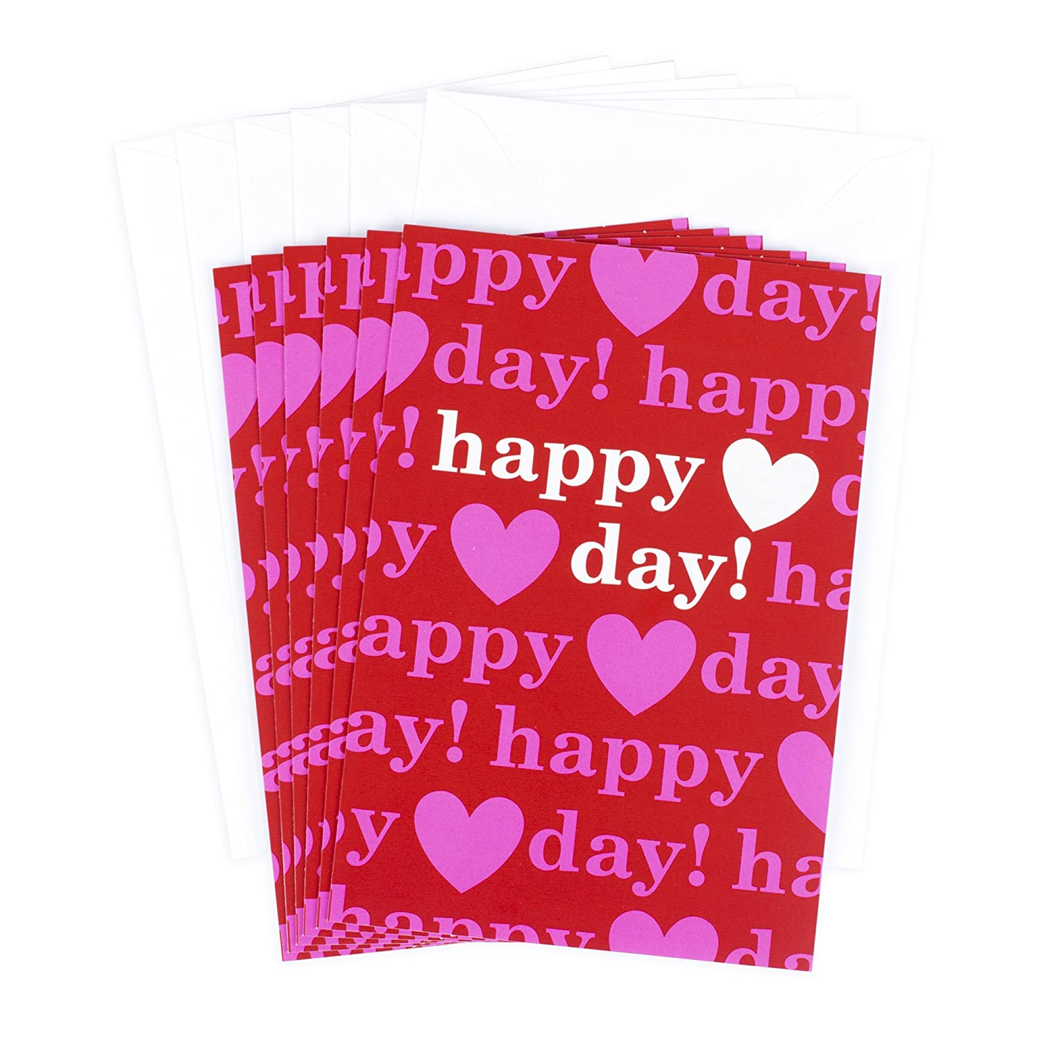 Amazon hallmark valentines day greeting cards assortment 6 amazon hallmark valentines day greeting cards assortment 6 cards and 6 envelopes happy day hearts pink and red office products kristyandbryce Choice Image