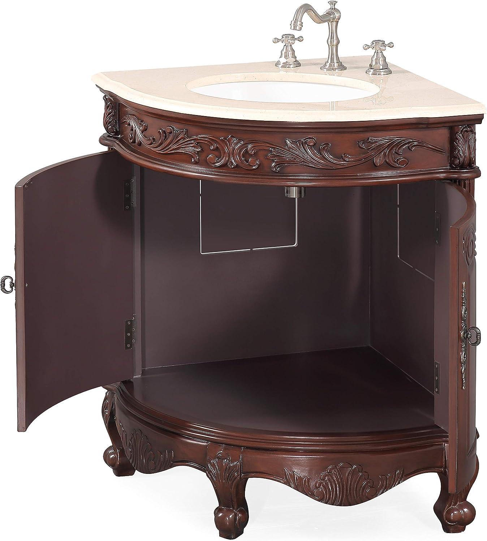 24 Space Saver Corner Shape Bathroom Vanity Model Bc 030m Bayview Amazon Com
