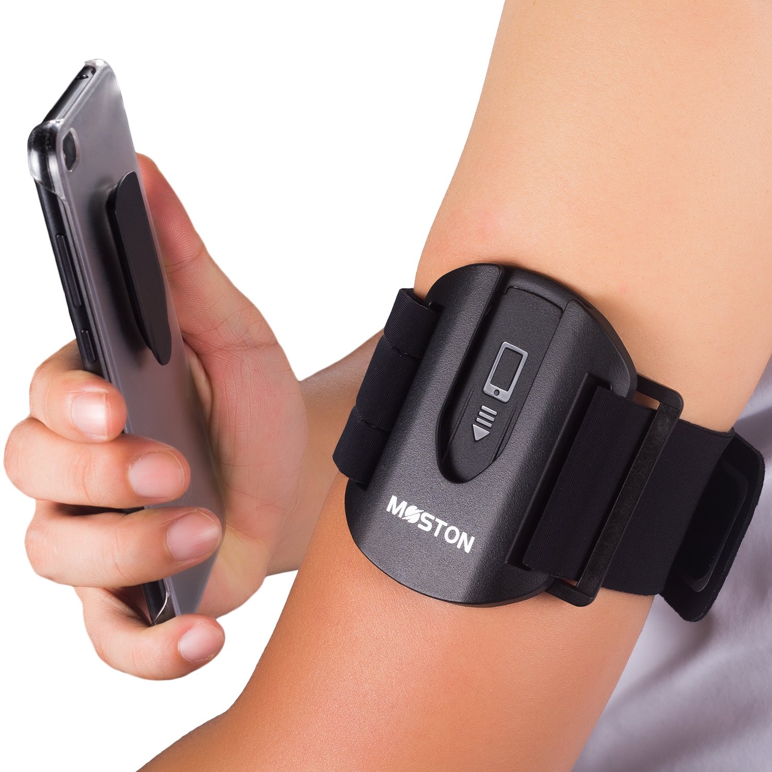 Moston 2017 New Design Sports Armband kit for All Cell Phone,Fast Slip-lock/unlock within a sec,Ideal for Running,Hiking,Cycling,Walking,Jogging,gym.Workout Arm Band for iphone/sumsung/LG phones,etc