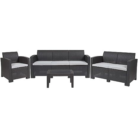 Amazon.com: flash furniture 4 piezas al aire última ...