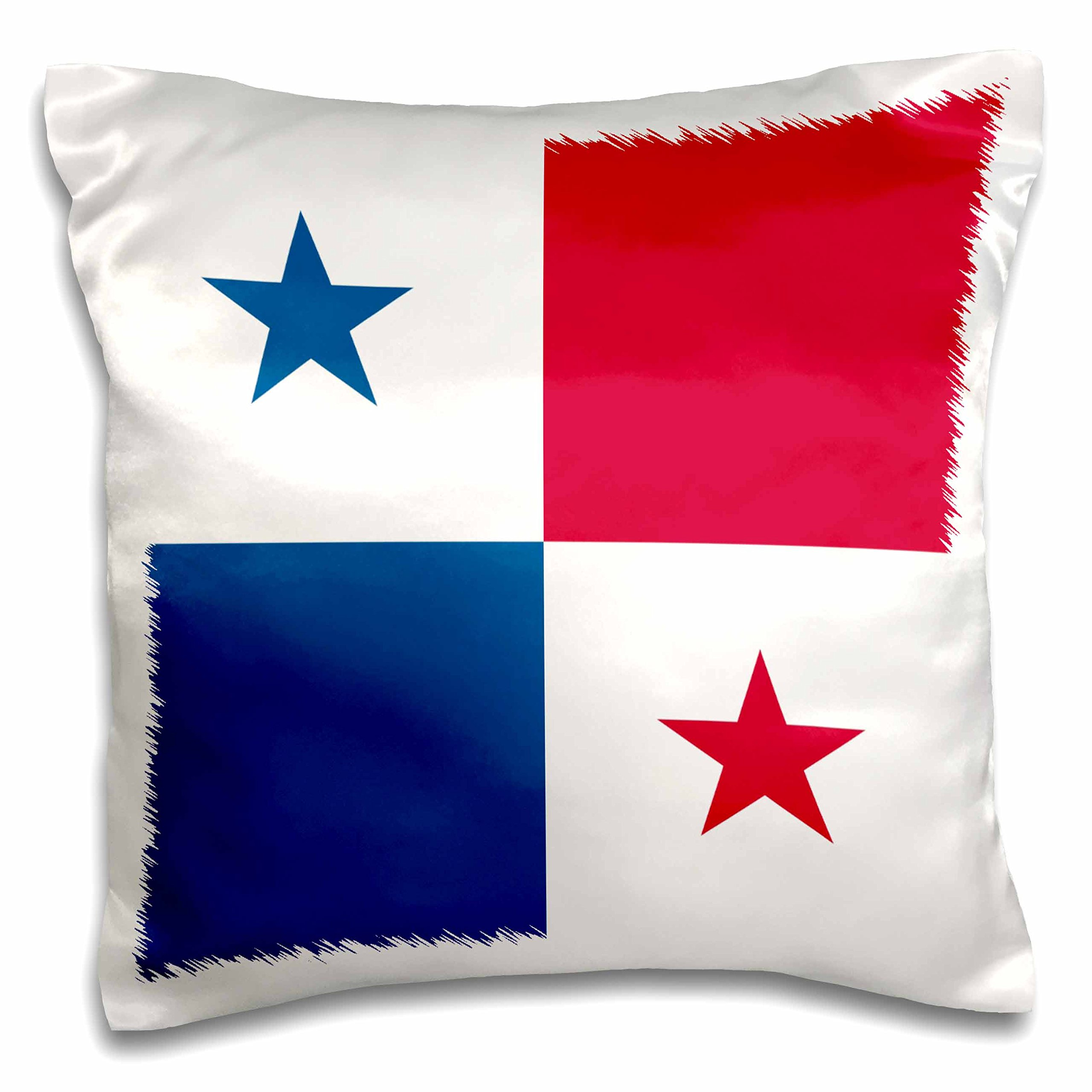 3dRose flag of Panama - Central America - Panamanian Red White Blue Squares Stars - country World - pillow Case, 16 by 16-Inch (pc_158408_1)