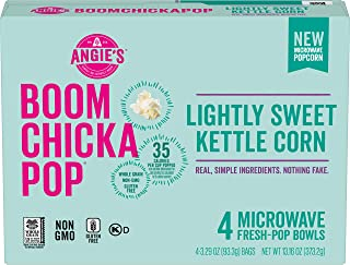 product image for Angie's BOOMCHICKAPOP Lightly Sweet Kettle Corn Microwave Popcorn, 3.29 oz. 4-Count (Pack of 6)
