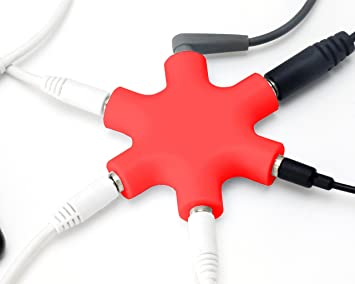 3,5mm Stereo Audio AUX Klinke Kabel Stecker MP3 Auto Laptop Handy Kopfhörer rot