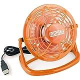 mumbi USB Ventilator - Mini Fan für den Schreibtisch mit An/Aus-Schalter, orange