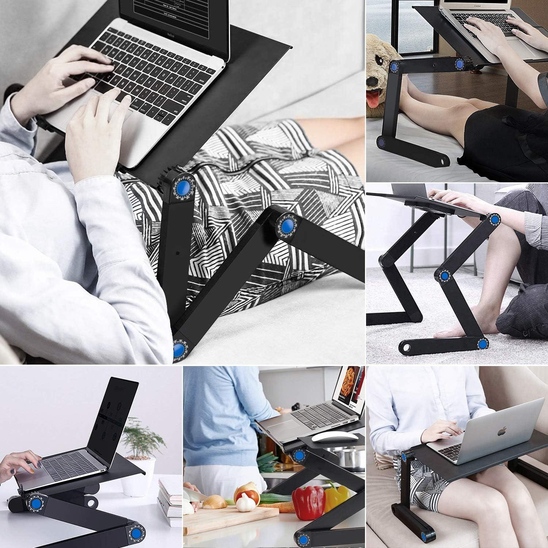 ノートパソコンスタンド Eletorot 折りたたみ式 パソコンテーブル 冷却ファン付き アルミ製(42cm)