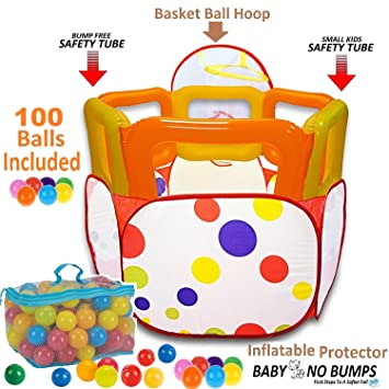 Kids Ball Pit Tent with 100 Crush Free Pit Balls Super Safe for Kids  sc 1 st  Amazon.com & Amazon.com: Kids Ball Pit Tent with 100 Crush Free Pit Balls Super ...