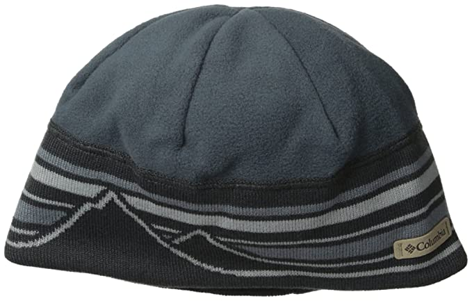 0fdcfb924974d2 Columbia Men's Alpine Pass Beanie, Graphite, One Size: Amazon.co.uk ...