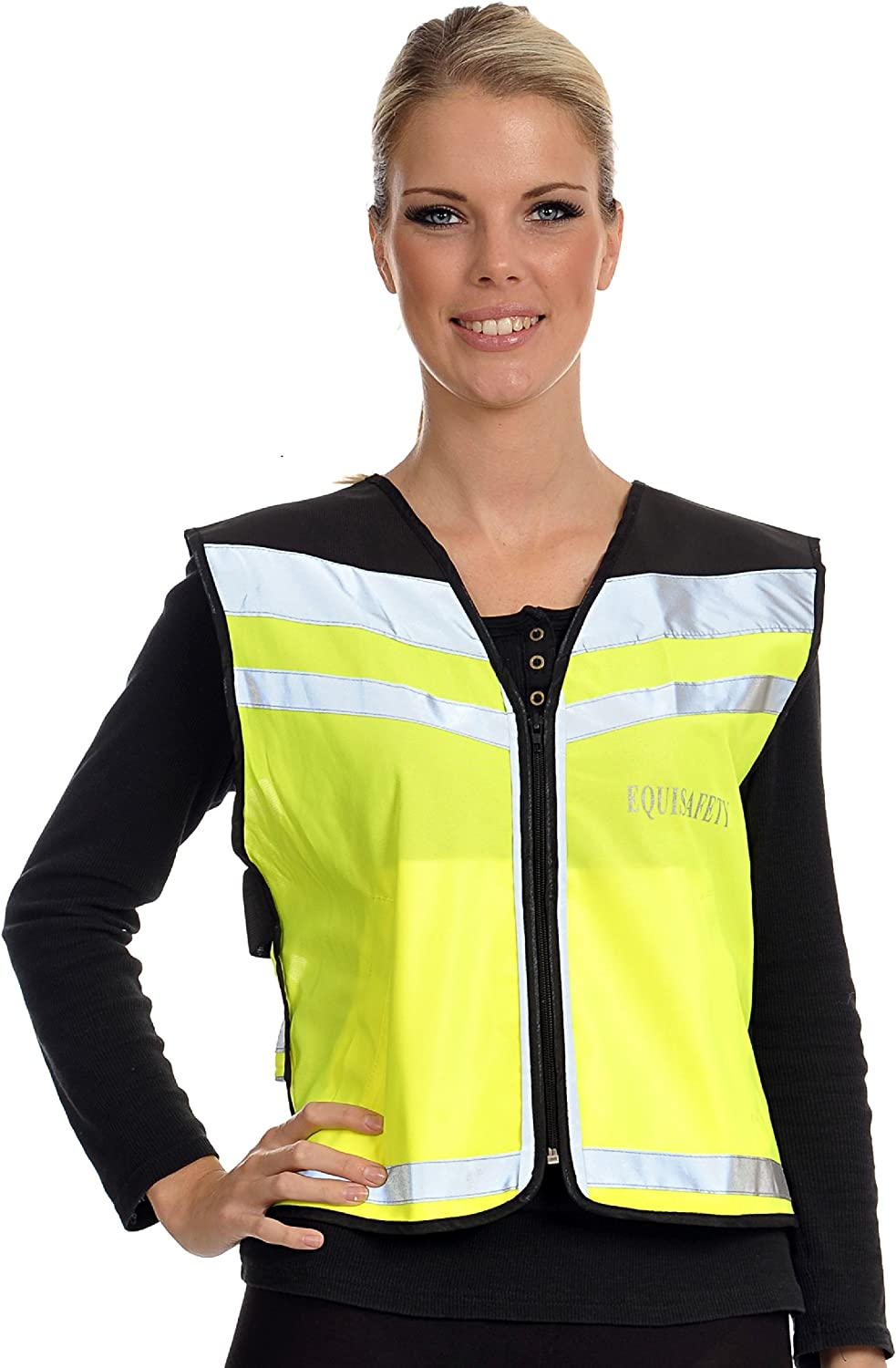 Equisafety Adjustable Air Waistcoat Chaleco de h/ípica para Mujer