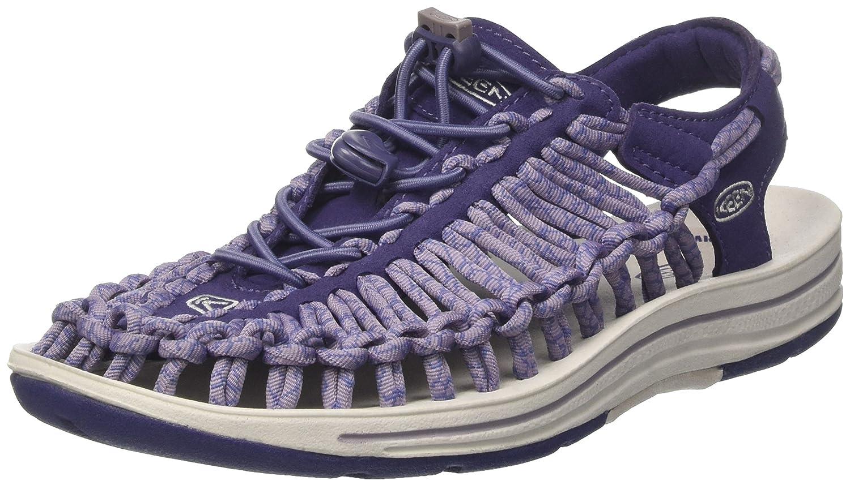 Keen Uneek, Damen Niedrig Plateau Sandalen Plateau Sandalen  41 EU|Violett (Crown Blue/Purple Sage)
