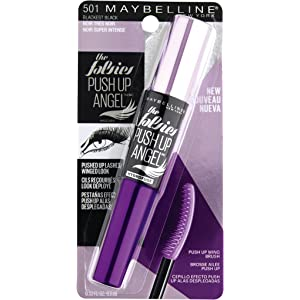 Maybelline The Falsies Push Up Angel Washable Mascara, Blackest Black, 0.33 fl. oz