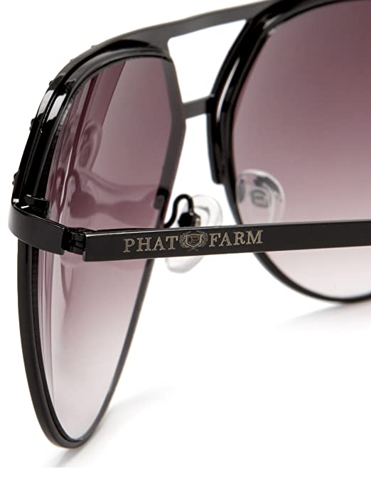 Amazon.com: Phat Farm Men\'s 5019 Metal Sunglasses,Black Frame/Black ...