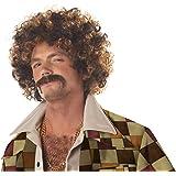 California Costumes Men's Disco Dirt Bag Wig & Moustache