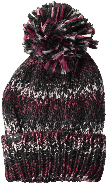 39224e8bfb6 Volcom Women s Chevron Chunky Silk Acrylic Yarn Snow Beanie Hat ...