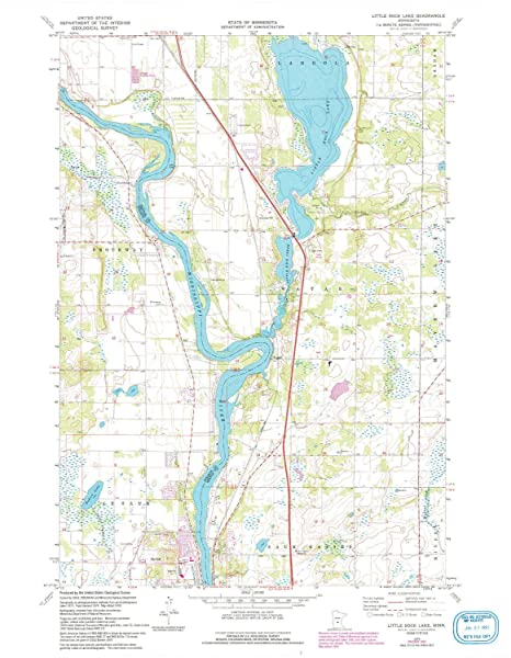 Amazon.com : YellowMaps Little Rock Lake MN topo map, 1:24000 Scale ...