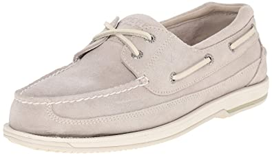 Sperry Top-Sider Men's Charter 2-Eye ASV Boat Shoe, Ivory, 7