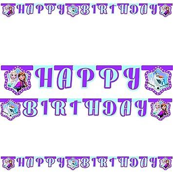 2 M Happy Birthday de fiesta Cadena * Frozen Northern Lights ...