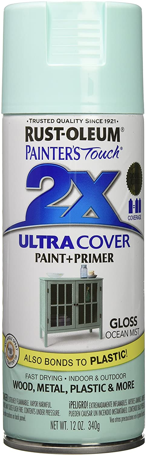 Rust-Oleum Painter's Touch Ultra Cover Gloss Aerosol Paint, 12 oz, Ocean Mist